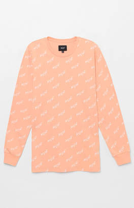 HUF Bolt All Over Print Long Sleeve T-Shirt