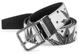 Dolce & Gabbana Reversible Printed Leather Belt