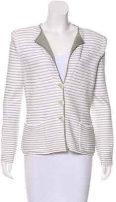 Armani Collezioni Striped Knit Jacket w/ Tags