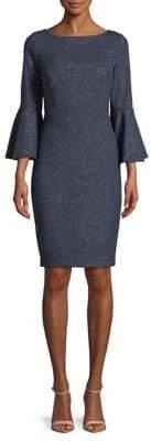 Vince Camuto Glitter Bell-Sleeve Sheath Dress