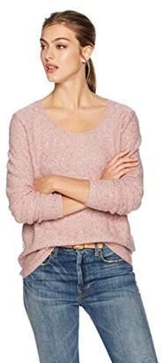 NYDJ Women's Sequin Longsleeve Scoop Sweater