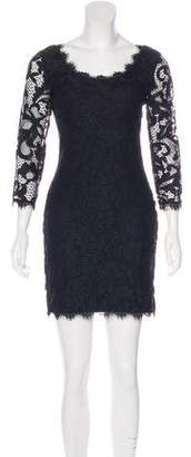 Diane von Furstenberg Zarita Scoop Lace Mini Dress
