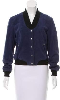 Rebecca Minkoff Suede Long Sleeve Jacket
