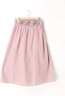 SM2 (サマンサ モスモス) - Samansa Mos2 モスコットン起毛ウエスト刺繍スカート
