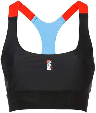 P.E Nation colour-block bra top