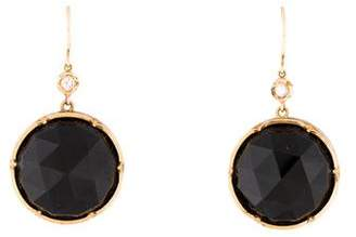 Irene Neuwirth 18K Onyx & Diamond Drop Earrings