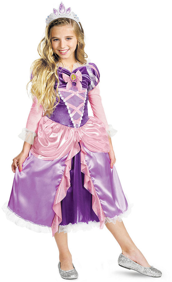 Disguise Costume, Girls or Little Girls Princess Rapunzel Sparkle Deluxe Tangled Costume