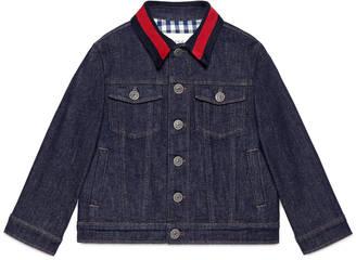Children's denim jacket with Web $595 thestylecure.com