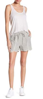 Susina Yarn Drawstring Tulip Hem Linen Blend Shorts (Regular & Petite)