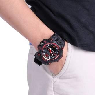 DAY Birger et Mikkelsen letlrelaxed Skmei Trendy 10 Digits di gi tal Men'S Student Watch 50m Waterproof Big Dial LCD Second Week Hour Minutes Display Watch