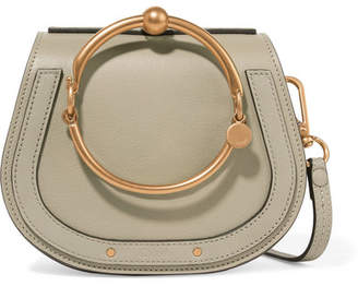 Chloé Nile Bracelet Small Textured-leather Shoulder Bag - Gray
