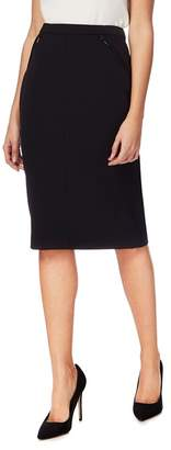 The Collection Petite - Black Petite Suit Skirt