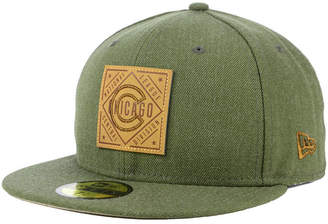 New Era Chicago Cubs Leather Patch 59FIFTY-fitted Cap