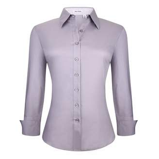 cc2a2c3da178e Alex Vando Womens Button Down Shirts Long Sleeve Cotton Stretch Work Shirt