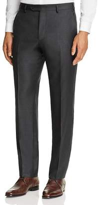Luigi Bianchi Solid Twill Classic Fit Trousers $295 thestylecure.com
