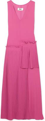 MM6 MAISON MARGIELA Pleated Crepe Dress - Fuchsia
