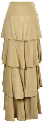 Lilly Sarti Ruffle Chamois Skirt