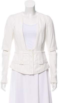 Chloé Cutout Collarless Jacket