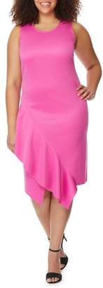 Rebel Wilson X Angels Asymmetrical Hem Ruffle Dress
