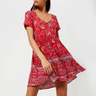 MinkPink Women's Lucia Button Front Mini Dress