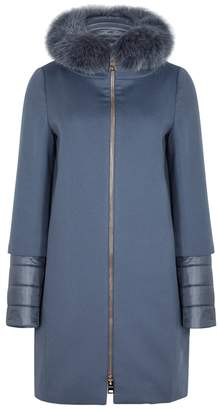 Herno Blue Fur