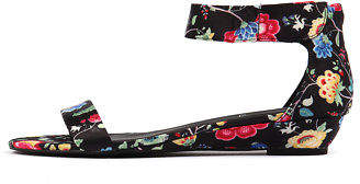 I Love Billy New Marlena Black Print Womens Shoes Casual Sandals Sandals Flat