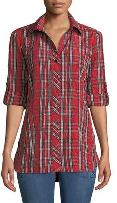Finley Joey Plaid Roll-Tab Shirt