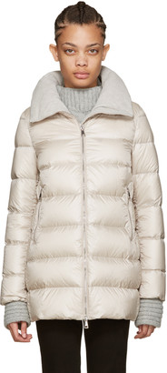 Moncler Beige Down Torcyn Coat $1,095 thestylecure.com