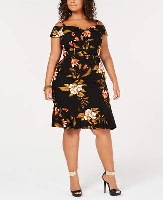 Love Squared Trendy Plus Size Off-The-Shoulder Bodycon Dress