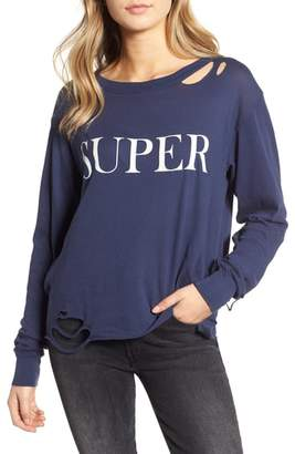 Wildfox Couture Stellar - Super Ripped Graphic Tee