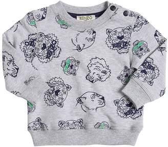 Kenzo Tiger Printed Cotton Sweatshirt