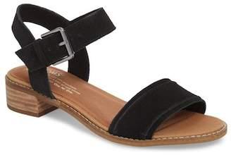 Toms Camilia Leather Block Heel Sandal