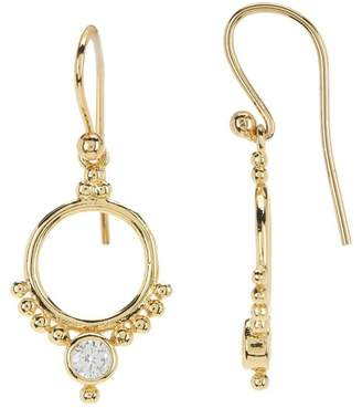 Shashi Bettina 18K Yellow Gold Plated Sterling Silver Bezel Set Crystal Drop Earrings