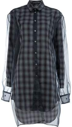 Y/Project Y / Project checked shirt dress