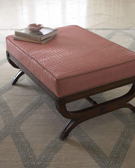 Pink Gator Hairhide Bench
