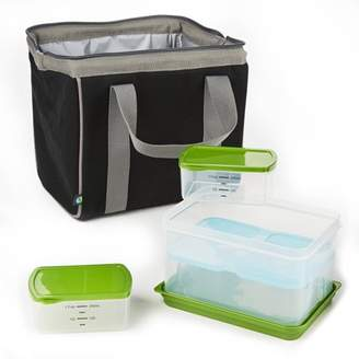 Fit & Fresh Big Phil Insulated Lunch Bag with Lunch on the Go Container Set