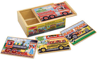 Melissa & Doug Kids Toy, Vehicle Puzzles in a Box