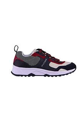 Tommy Hilfiger Men's Material Mix Lightweight Runner Low-Top Sneakers