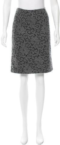 Anna SuiAnna Sui Knit Knee-Length Skirt