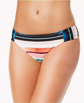 LaBlanca La Blanca Meridian Printed Side-Shirred Bikini Bottoms