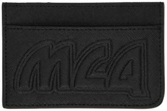 McQ Black Metal Logo Card Holder