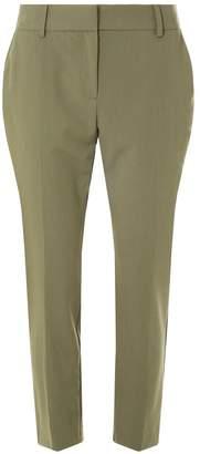 Dorothy Perkins Womens Khaki Split Hem Ankle Grazer Trousers