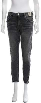 Amo Twist Zip Mid-Rise Jeans w/ Tags