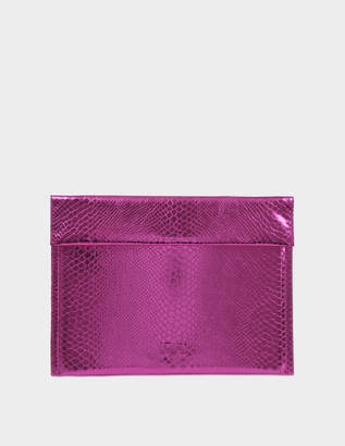 MM6 MAISON MARGIELA Pouch Bag in Pink Synthetic Leather