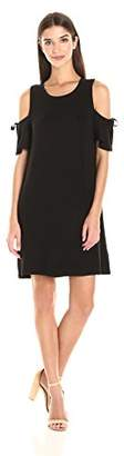 Kensie Women's Drapey French Terry Dress with Cold Shoulder $69 thestylecure.com