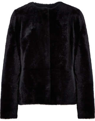 Yves Salomon Reversible Shearling And Nubuck Coat - Midnight blue
