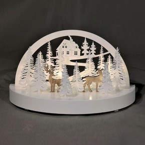 Stimmungsvoller LED-Schwibbogen Winterwald
