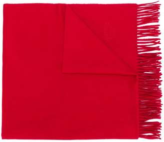 Hermes Pre-Owned cashmere fringed shawl