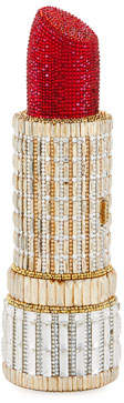 Judith Leiber Couture Seductress Crystal Lipstick Clutch Bag