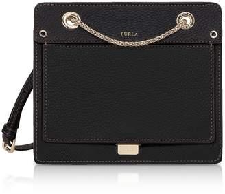 Furla Like Mini Leather Crossbody Bag W/chain Strap